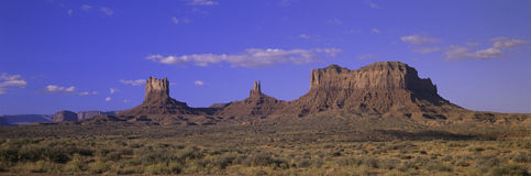 Panoramic view of red buttes and colorful spires Royalty Free Stock Photos