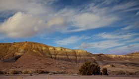 Panoramic view of the red rocks area in northern New Mexico stock image