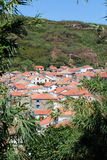 Panoramic view at red roofs in Susak in Croatia Royalty Free Stock Image