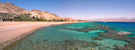 Panoramic view on Red Sea. Royalty Free Stock Photography