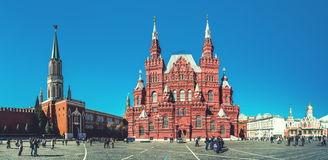 Panoramic view of Red Square Royalty Free Stock Photography