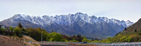 Panoramic View of the Remarkables Mountain Range Queenstown royalty free stock photos