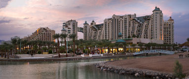 Panoramic view on resort hotels of Eilat, Israel Stock Photo