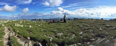 Panoramic view from the Retezat mountain Stock Photos
