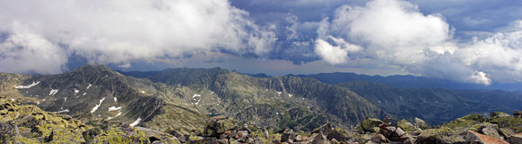 Panoramic view of the Retezat mountains in Romania Stock Images
