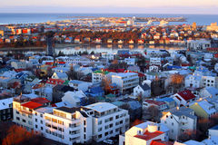 Panoramic view of Reykjavik Stock Image