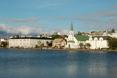 Panoramic view of Reykjavik, Iceland Stock Photo