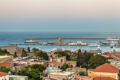 Panoramic View Of Rhodes Island, Greece Royalty Free Stock Photography