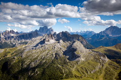 A Panoramic View from Rifugio Lagazuoi Stock Photos
