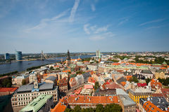 Panoramic view of Riga Stock Photos