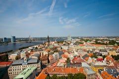 Panoramic view of Riga stock photos