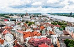 Panoramic view of Riga, Latvia. Royalty Free Stock Photography