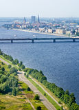 Panoramic view of Riga, Latvia Stock Image