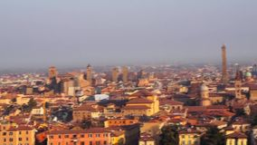 Bologna, Italy 07 January 2019: Panoramic view during a sunny day stock video