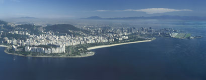 Panoramic view of Rio de Janeiro, Brazil. Stock Images