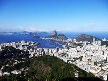 A panoramic view of Rio de Janeiro, Brazil stock image