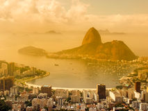 Panoramic view of Rio de Janeiro Royalty Free Stock Photo
