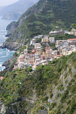 Panoramic view of Riomaggiore Stock Photo