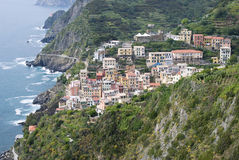 Panoramic view of Riomaggiore Royalty Free Stock Photo