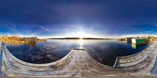 Panoramic view of the river. 360 degree panorama. Panoramic view of the river Royalty Free Stock Image
