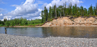Panoramic view of the river. Stock Photos