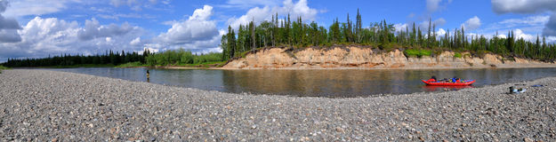 Panoramic view of the river. Royalty Free Stock Photo