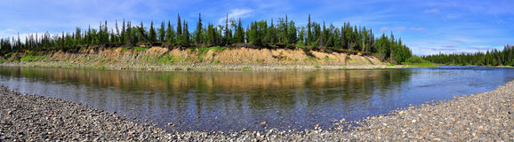 Panoramic view of the river. Royalty Free Stock Photos