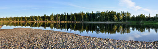 Panoramic view of the river. Stock Photography
