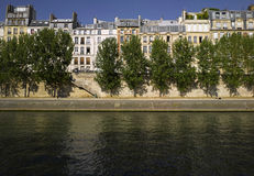 Panoramic view of  river SEINE near Carrousel  bri Stock Images