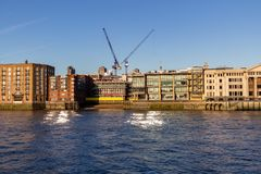 Panoramic view of River Thames London UK royalty free stock image