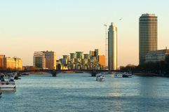 Panoramic view of River Thames London Stock Photo