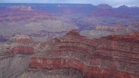 Panoramic view of the river valley and red rocks. Grand Canyon National Park with Colorado river in Arizona, USA