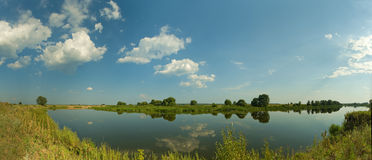 Panoramic view of river Zna Royalty Free Stock Photo