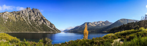 Panoramic view from the Road of the Seven Lakes, Patagonia, Argentina Royalty Free Stock Photos