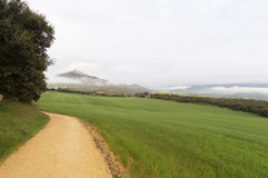 Panoramic view, road to Santiago de Compostela, La Rioja Stock Photography