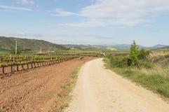 Panoramic view, road to Santiago de Compostela, La Rioja Stock Image