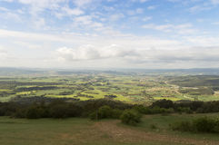 Panoramic view with Road to Santiago de Compostela, Navarre Stock Photos