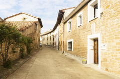 Panoramic view with Road to Santiago de Compostela, Navarre Royalty Free Stock Photo