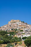 Panoramic view of Rocca Imperiale. Calabria. Italy. Stock Image