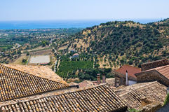 Panoramic view of Rocca Imperiale. Calabria. Italy. Stock Photography