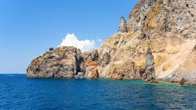 Panoramic view of rock formations at the Lipari Island. Aeolian Islands, Italy Stock Photo