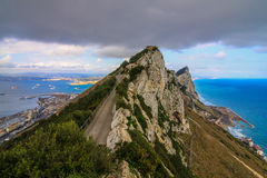 Panoramic View from Rock of Gibraltar Royalty Free Stock Photo