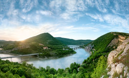 Panoramic view of the rock phenomenon Wonderful rocks. Bulgaria Stock Photo