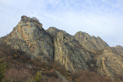 Panoramic view of rocks. In mountain Stock Images