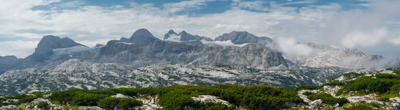 Panoramic view of rocky mountain Royalty Free Stock Photos