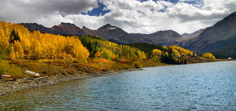 Panoramic view of rocky mountains Stock Photography