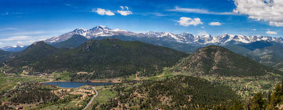 Panoramic view of Rocky mountains, Colorado, USA Royalty Free Stock Image