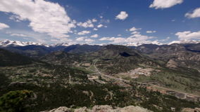 Panoramic view of Rocky mountains, Colorado, USA stock video