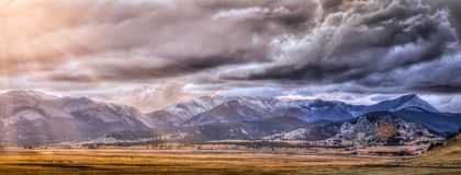 Panoramic View of Rocky Mountains Royalty Free Stock Photo