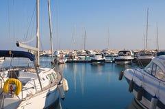 Panoramic view of Rodi Garganico. Puglia. Italy. Royalty Free Stock Image